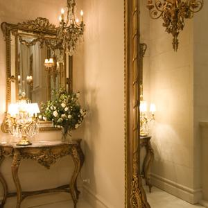 Antique Console & Mirrors
