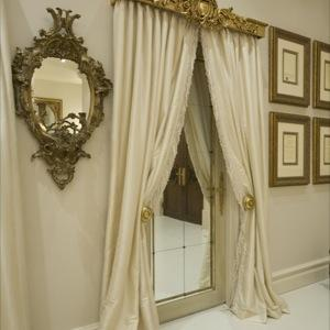 Gilded Pelmet & Curtains